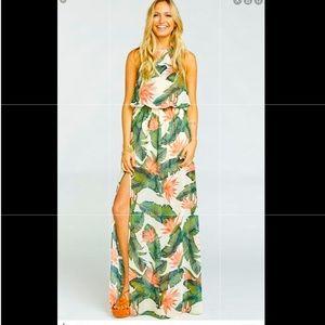 Show me your mumu Paradise Found Halter dress XS